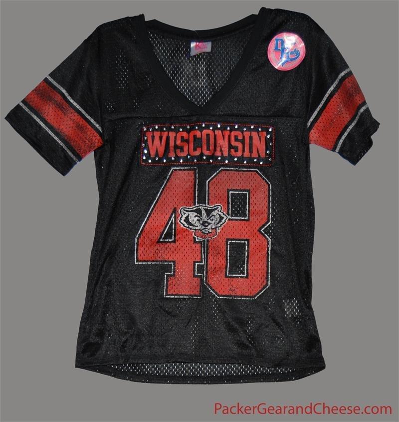 Ladies' Wisconsin Badgers Black Jersey 00016
