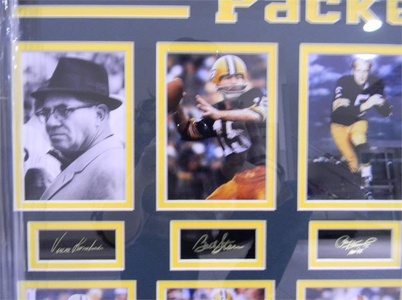 Lombardi, Starr, and Hornung photos with autographs