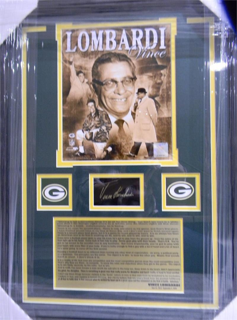 Vince Lombardi Autographed Photo Collage 00022