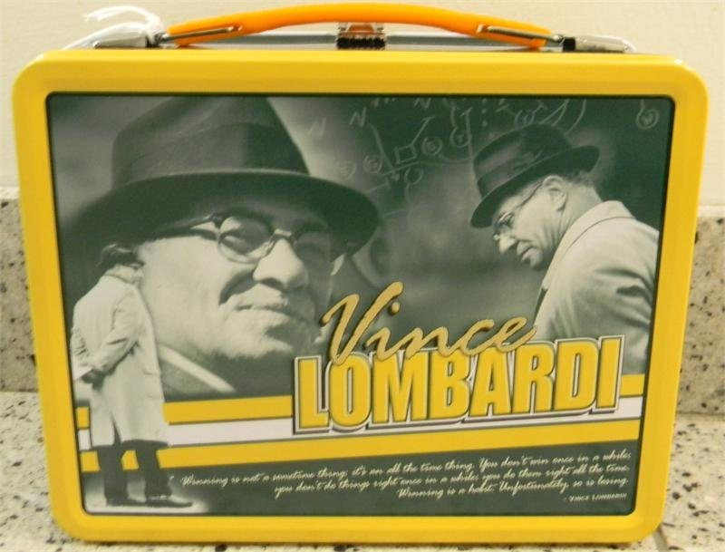 Vince Lombardi Metal Lunch Box 00023