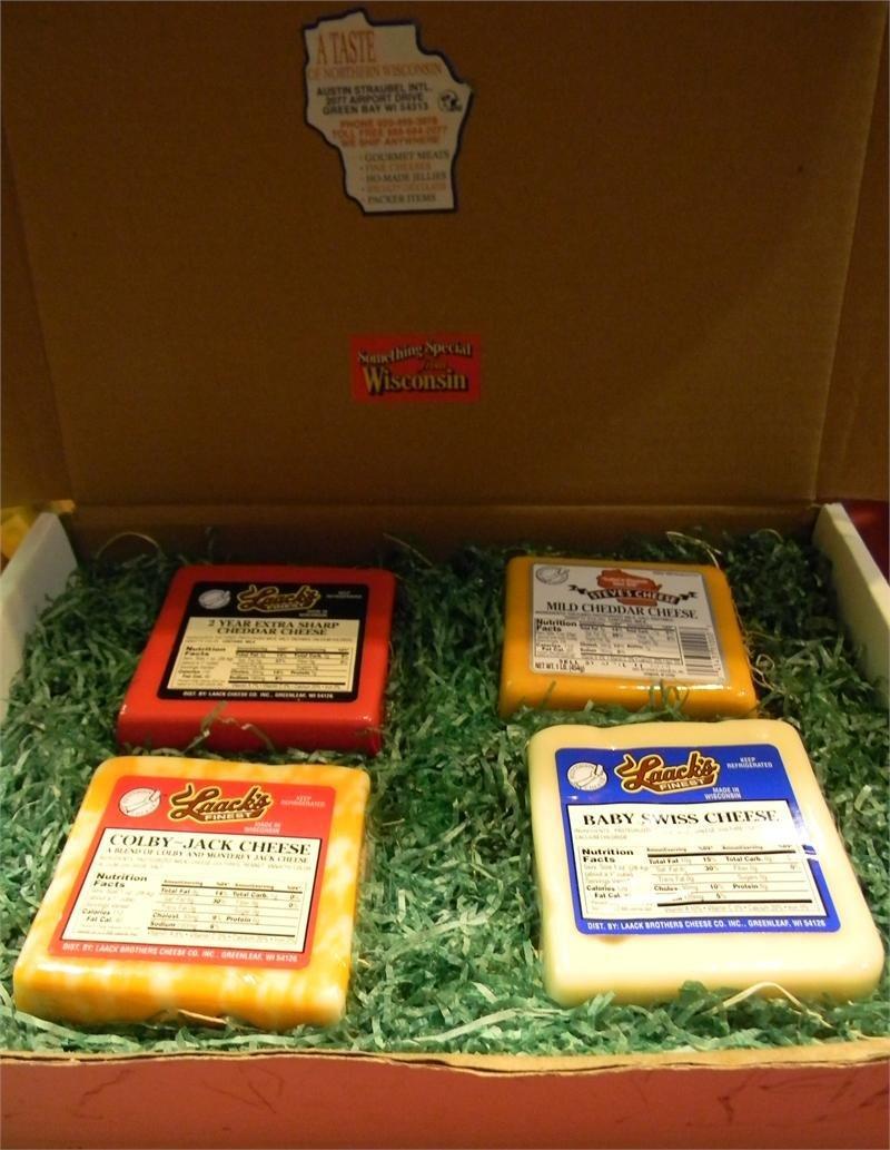 Wisconsin Cheese 4 Block Gift Box 00036