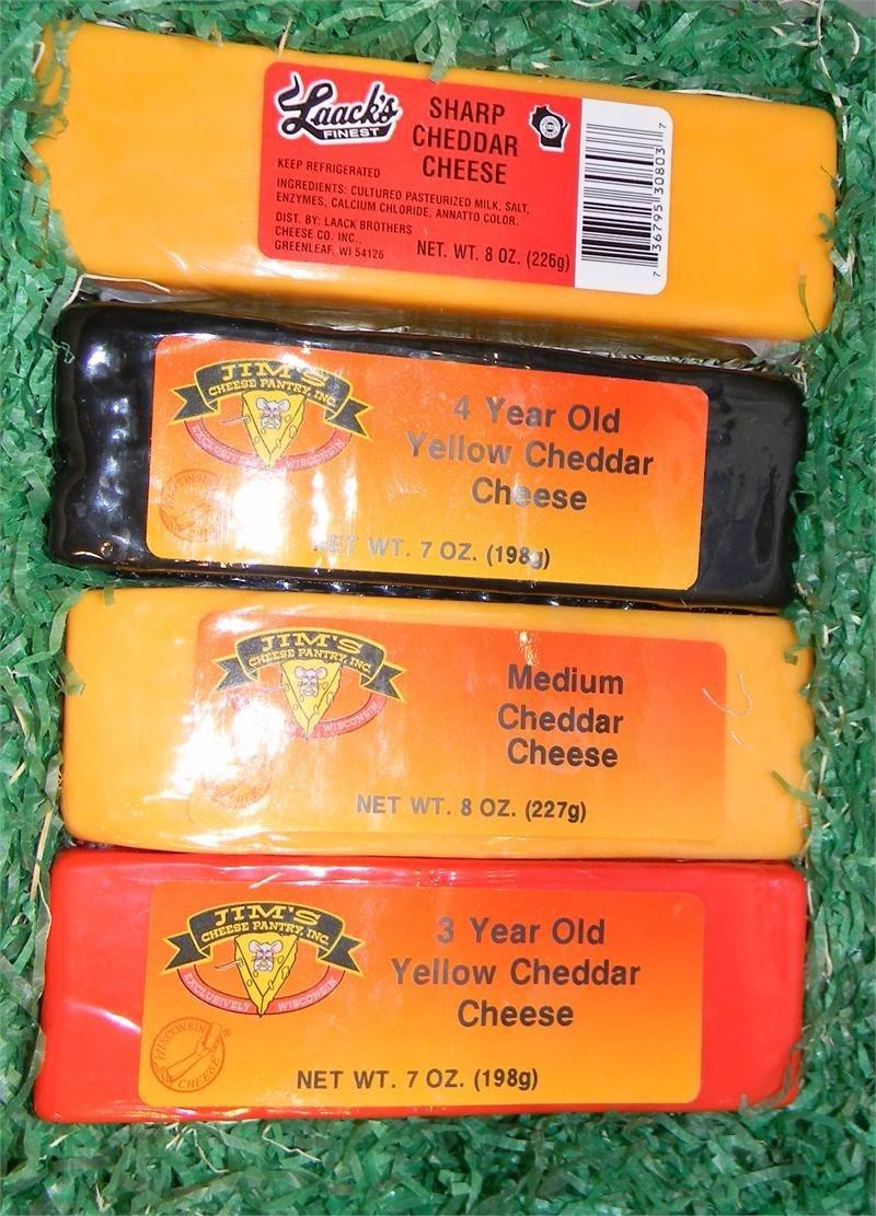 Wisconsin Cheese 4 Brick Gift Box