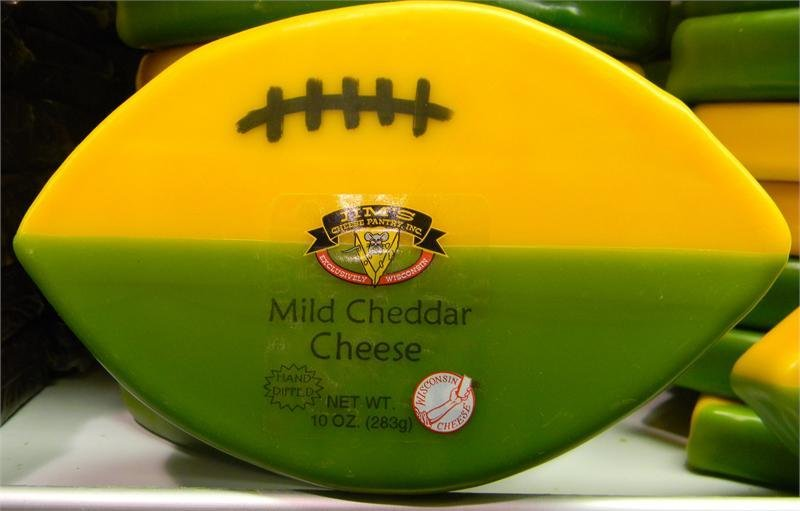 Wisconsin Mild Cheddar Cheese 10oz. Football 00041