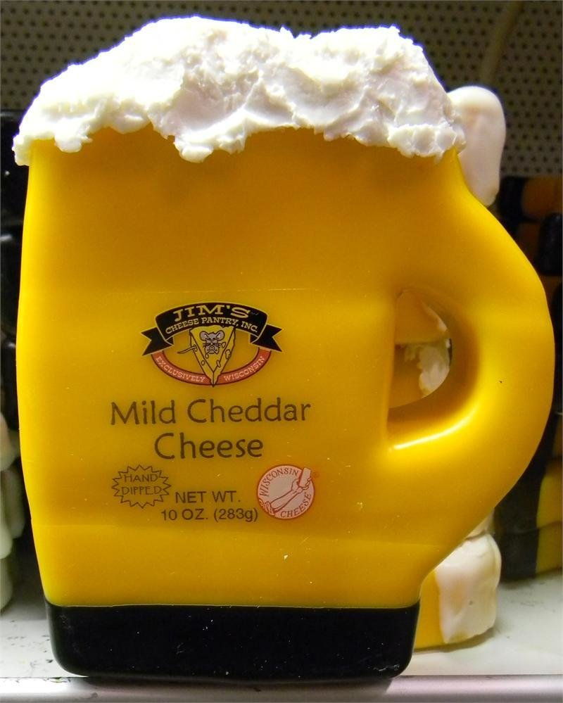 Wisconsin Mild Cheddar Cheese 10oz. Beer Mug 00043