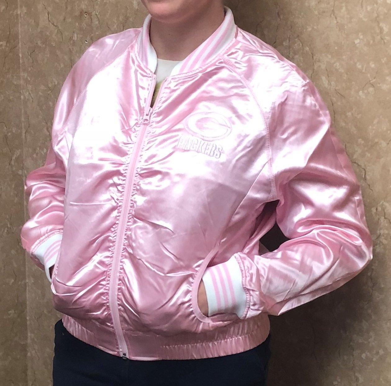 Ladies' Pink Green Bay Packers Jacket 00053