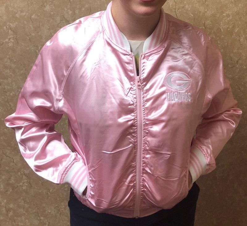 Ladies' Pink Green Bay Packers Jacket