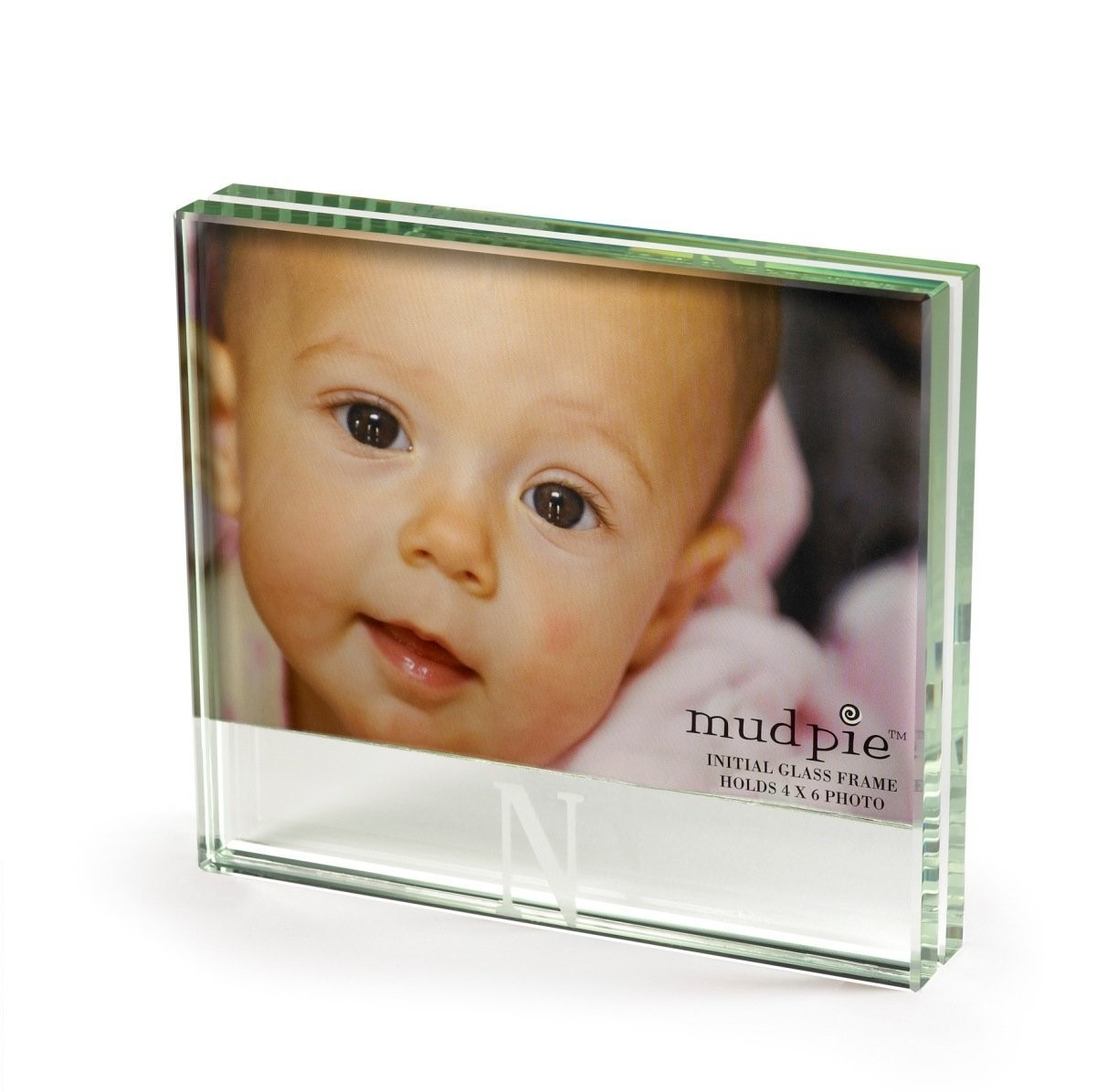 Mud Pie Glass Picture Frame W/Initial