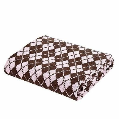 Pink and Chocolate Argyle Blanket