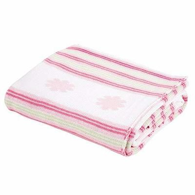 Stripes and Flowers Baby Blanket