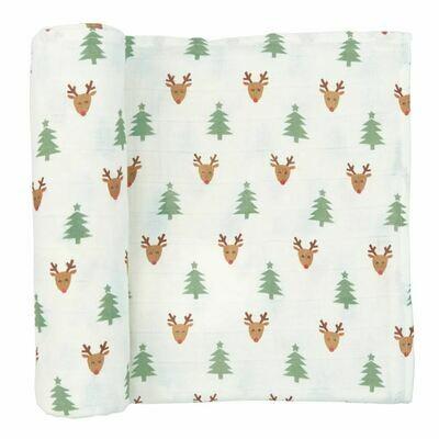 Muslin Christmas Swaddle Blanket