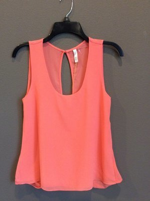 Open Slit Back Tank Top
