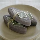 Sandstone Pumice w/Natural Leaf Accent, Set of 3