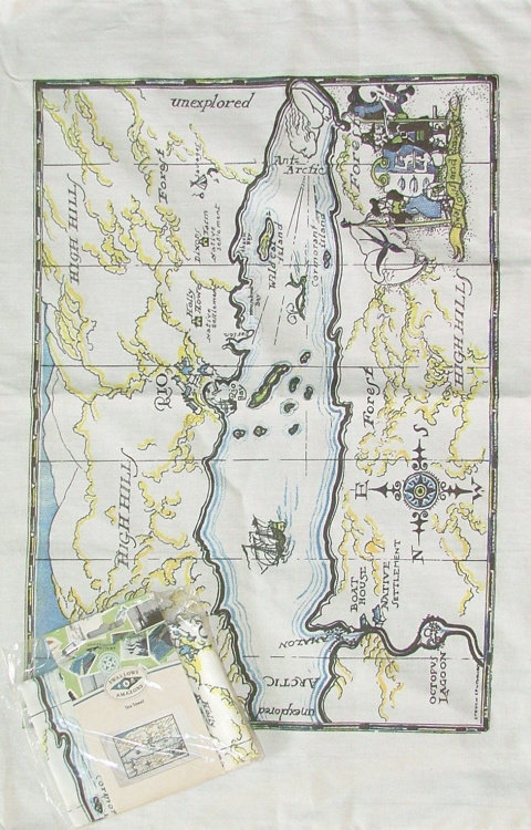 Map Tea Towel N-TTM
