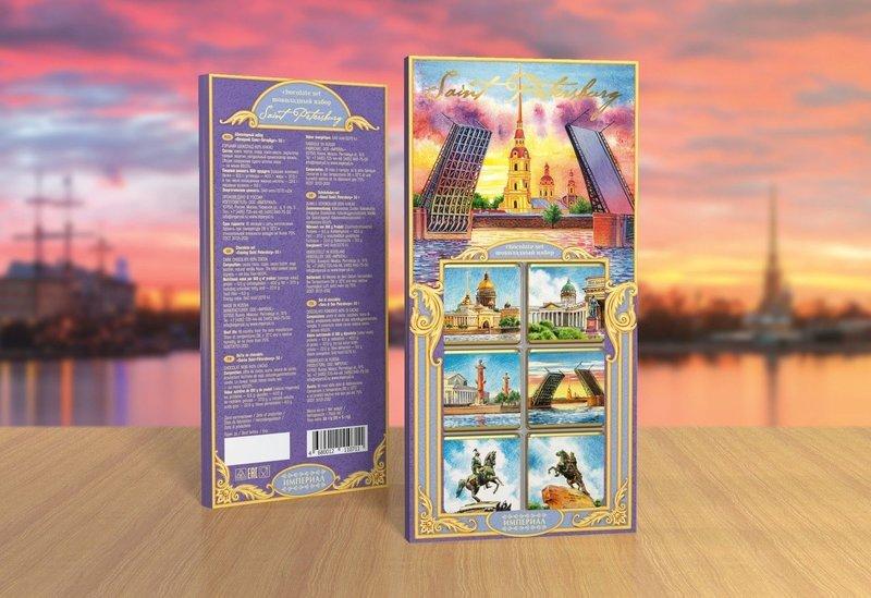 Шоколадный набор «Санкт-Петербург» 50 г