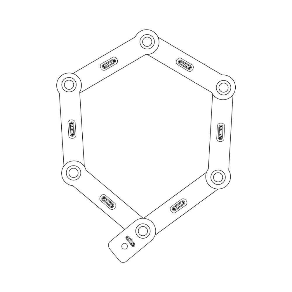 Folding Lock 6000/90 black SH