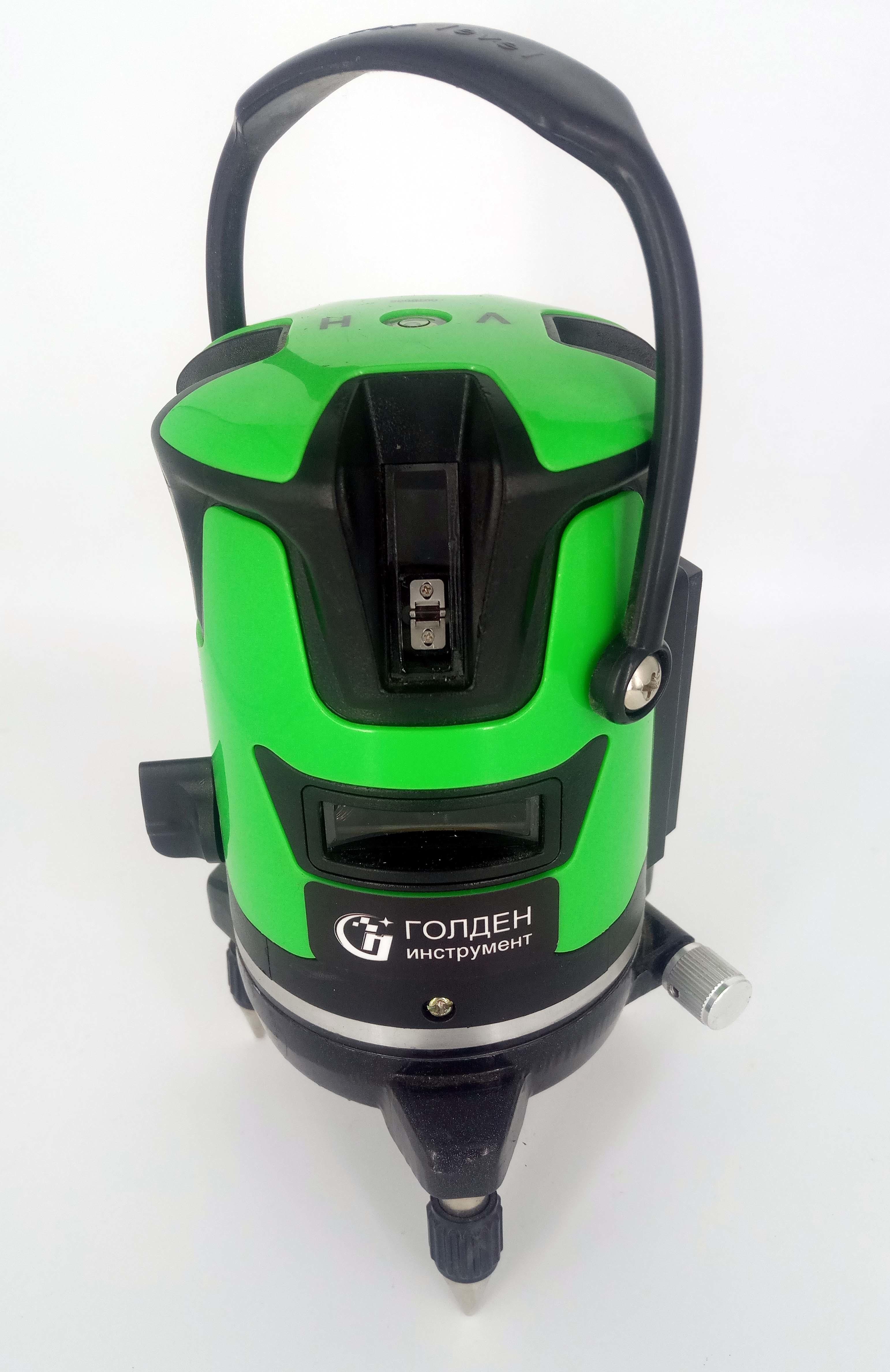 Лазерный нивелир (уровень, луч зеленый) голден инструмент СТИ-636-5L 79845
