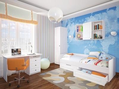 Детская кровать Прага 01 Белое дерево