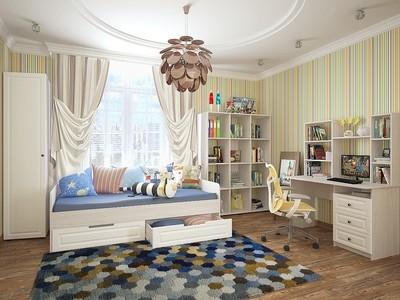 Купить детскую кровать Прага 02 Белое дерево