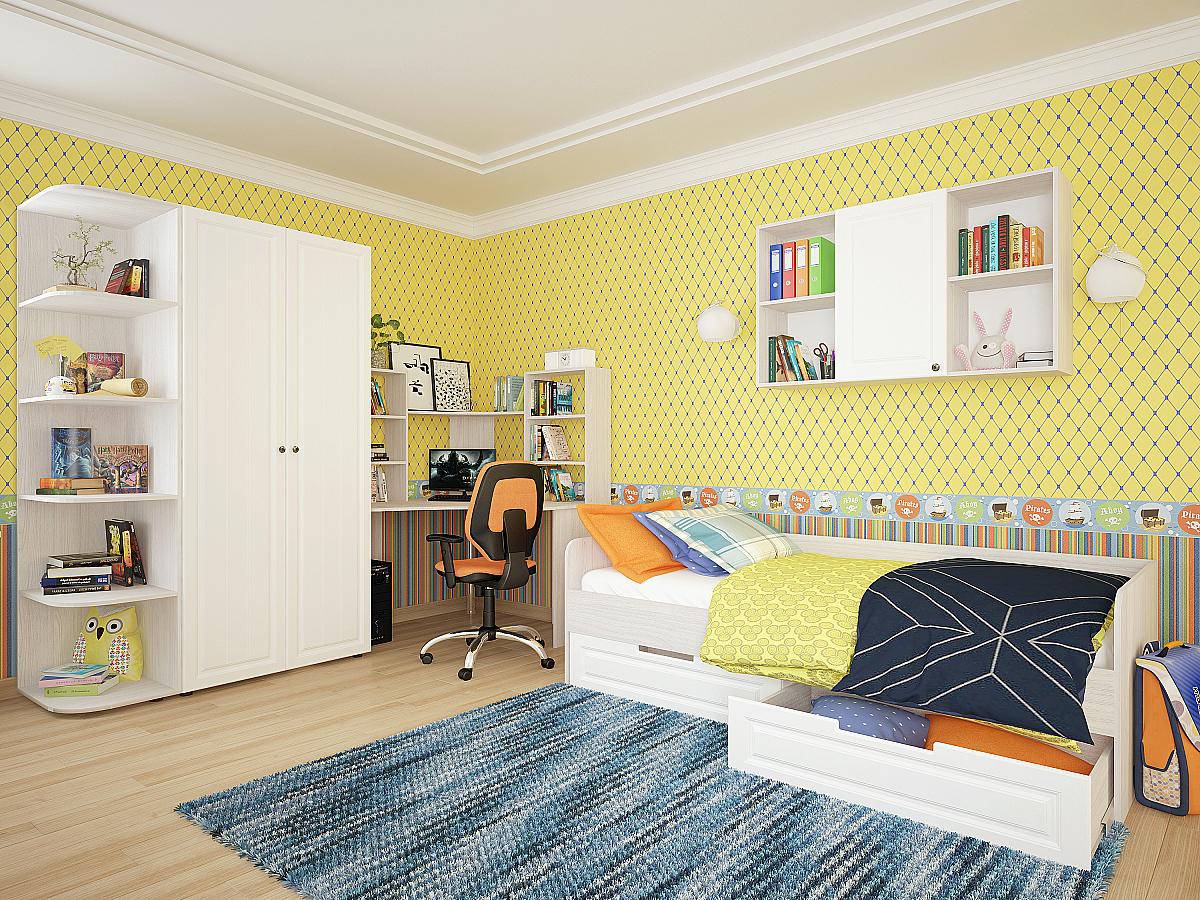 Купить детскую кровать Прага 04 Белое дерево 91829