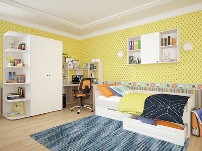 Купить детскую кровать Прага 04 Белое дерево