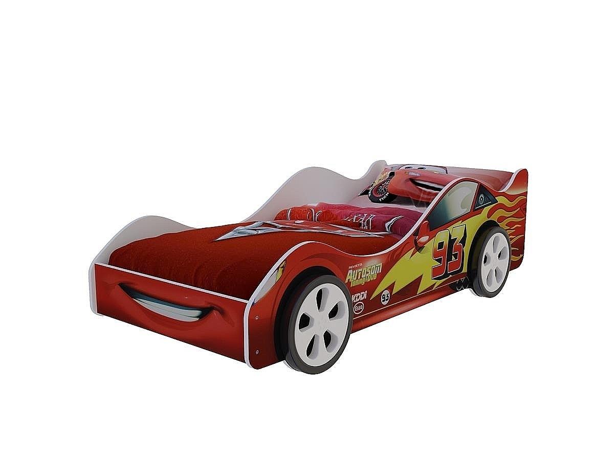 Детская кровать машина Старт Красная