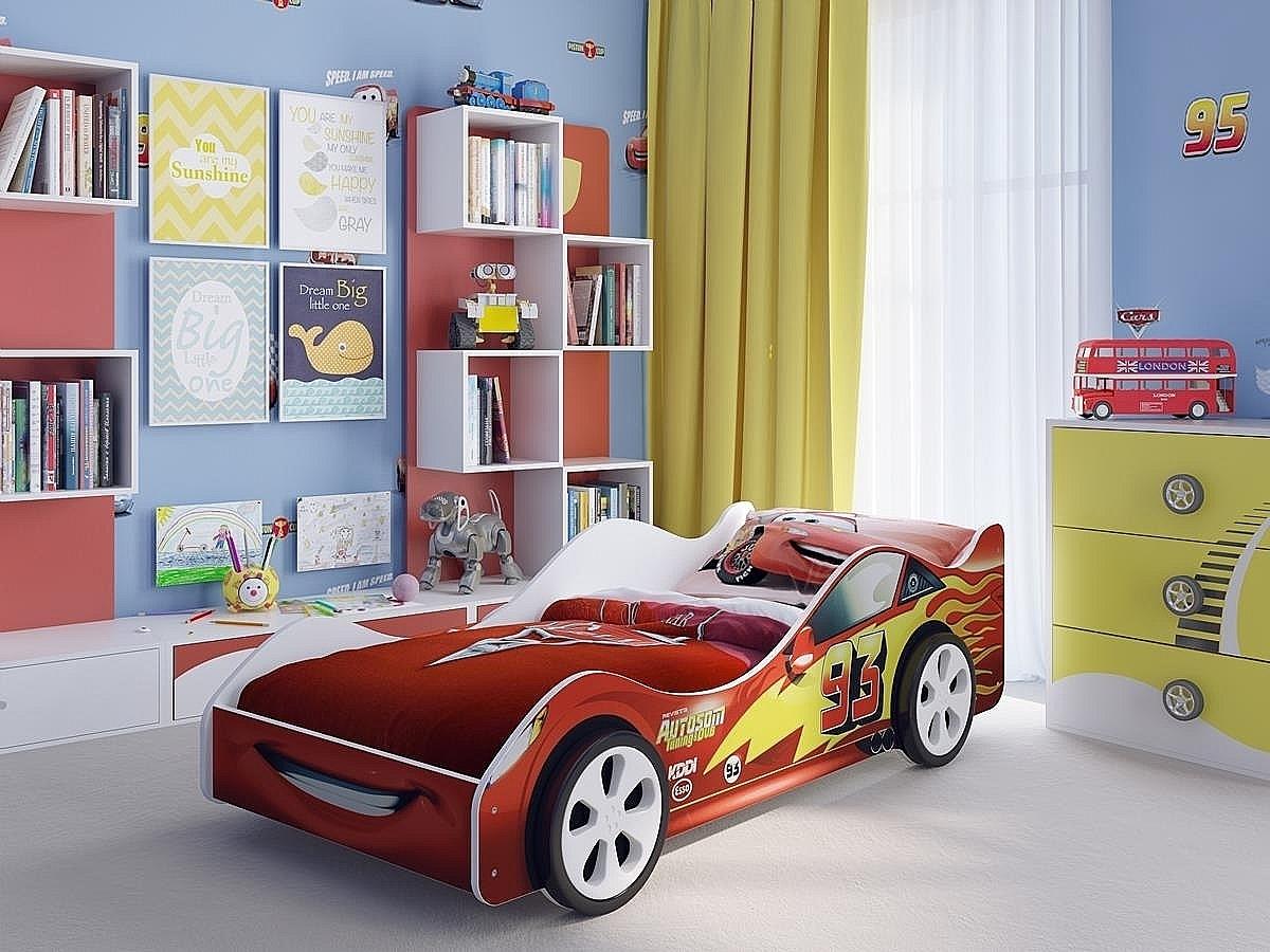 Детская кровать машина Старт Красная 91832