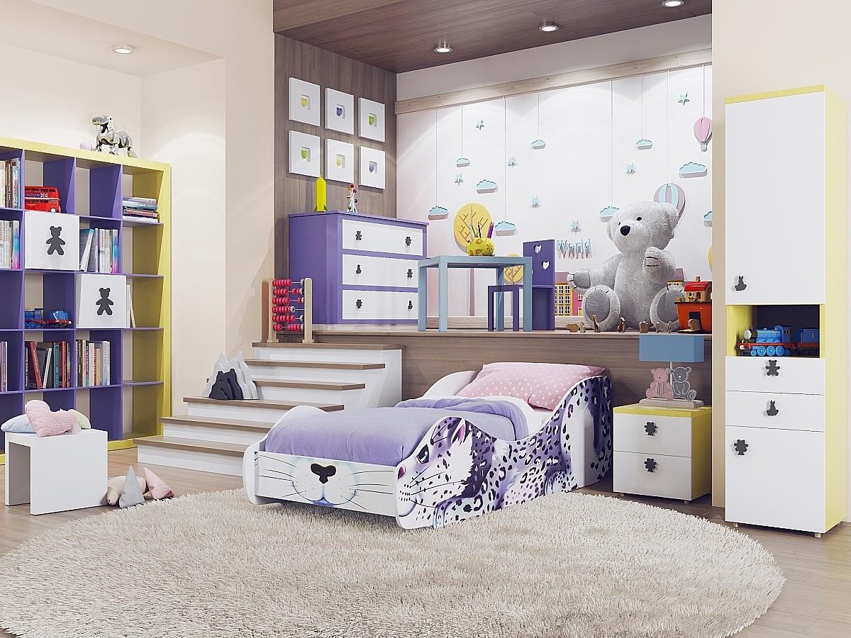 Купить детскую кровать Зверята Ирбис
