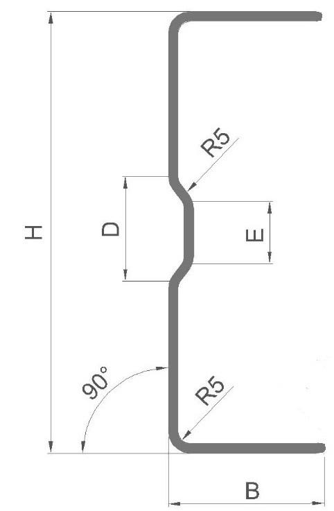 Профиль для каркасна лстк 91904
