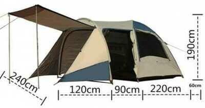 Четырёхместная палатка Tasman DOME PLUS OZ4V