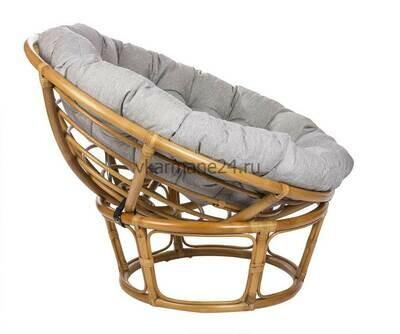 Кресло для отдыха Papasan Chair мед с подушкой