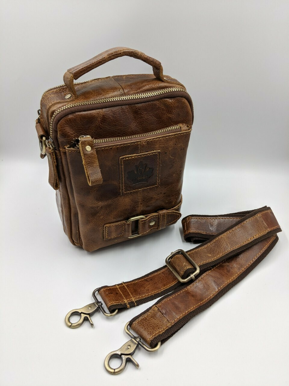 Мужская кожаная сумка zznick 3719