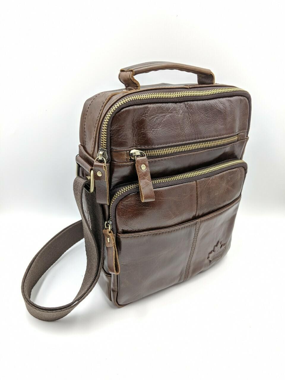 Мужская кожаная сумка zznick 7912