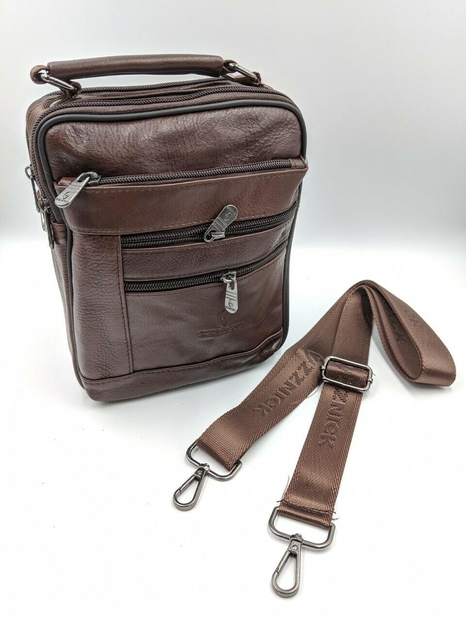 Мужская кожаная сумка zznick 28112
