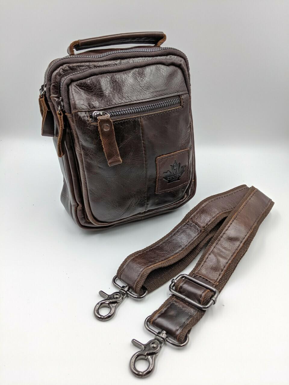 Мужская кожаная сумка zznick 3718