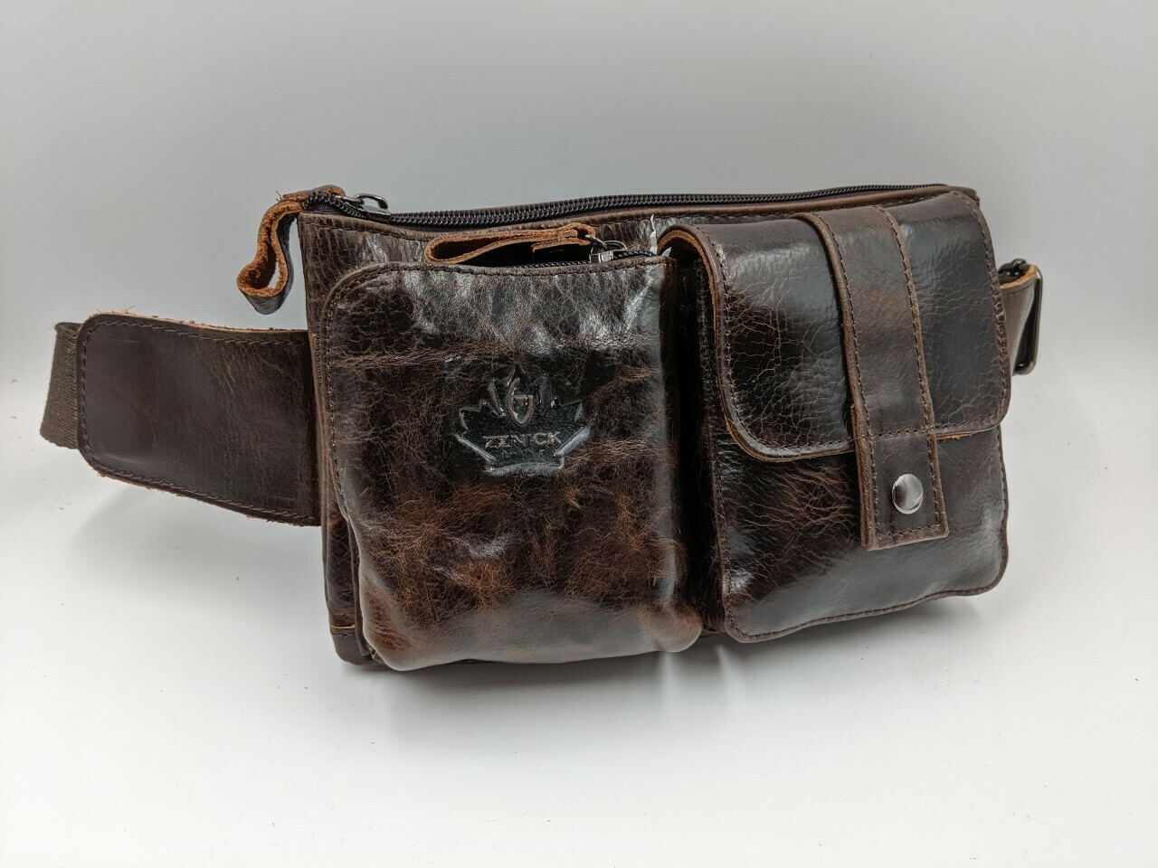 Мужская кожаная сумка zznick 7713