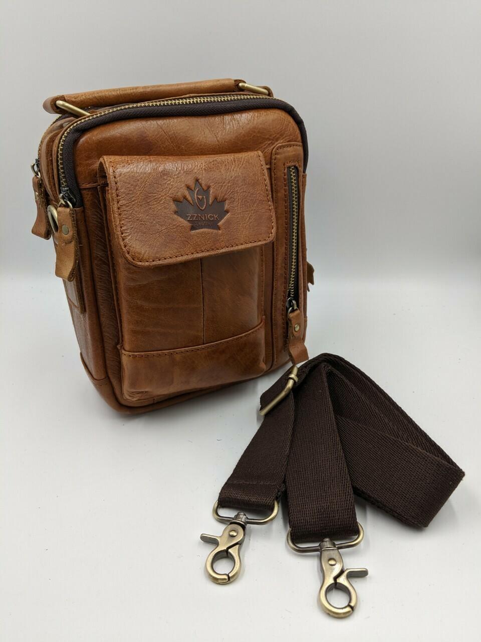 Мужская кожаная сумка zznick 65016
