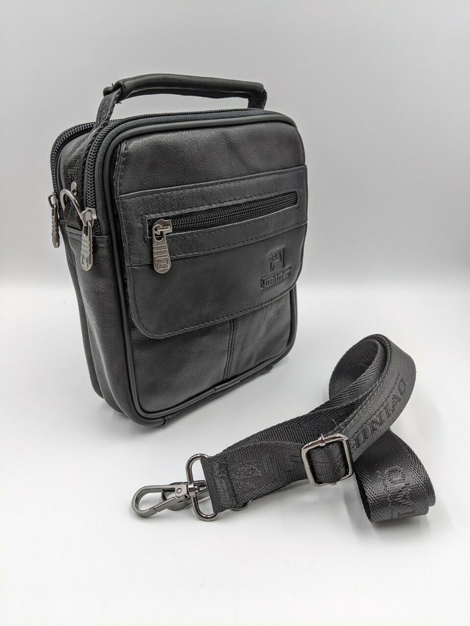 Мужская кожаная сумка zznick 5506