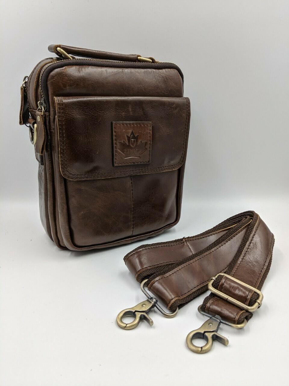 Мужская кожаная сумка zznick 6501