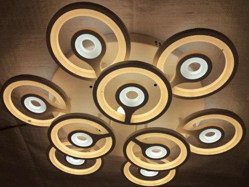 Люстра светильник потолочный с пультом 3+6