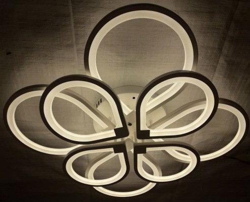 Люстра светильник потолочный с пультом 4+4 00558