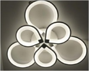 Светодиодная люстра с пультом  3+3 00881