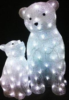 Акриловая светодиодная фигура Медведи 00593