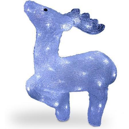 Акриловая светодиодная фигура Арктический олень 43см 00597