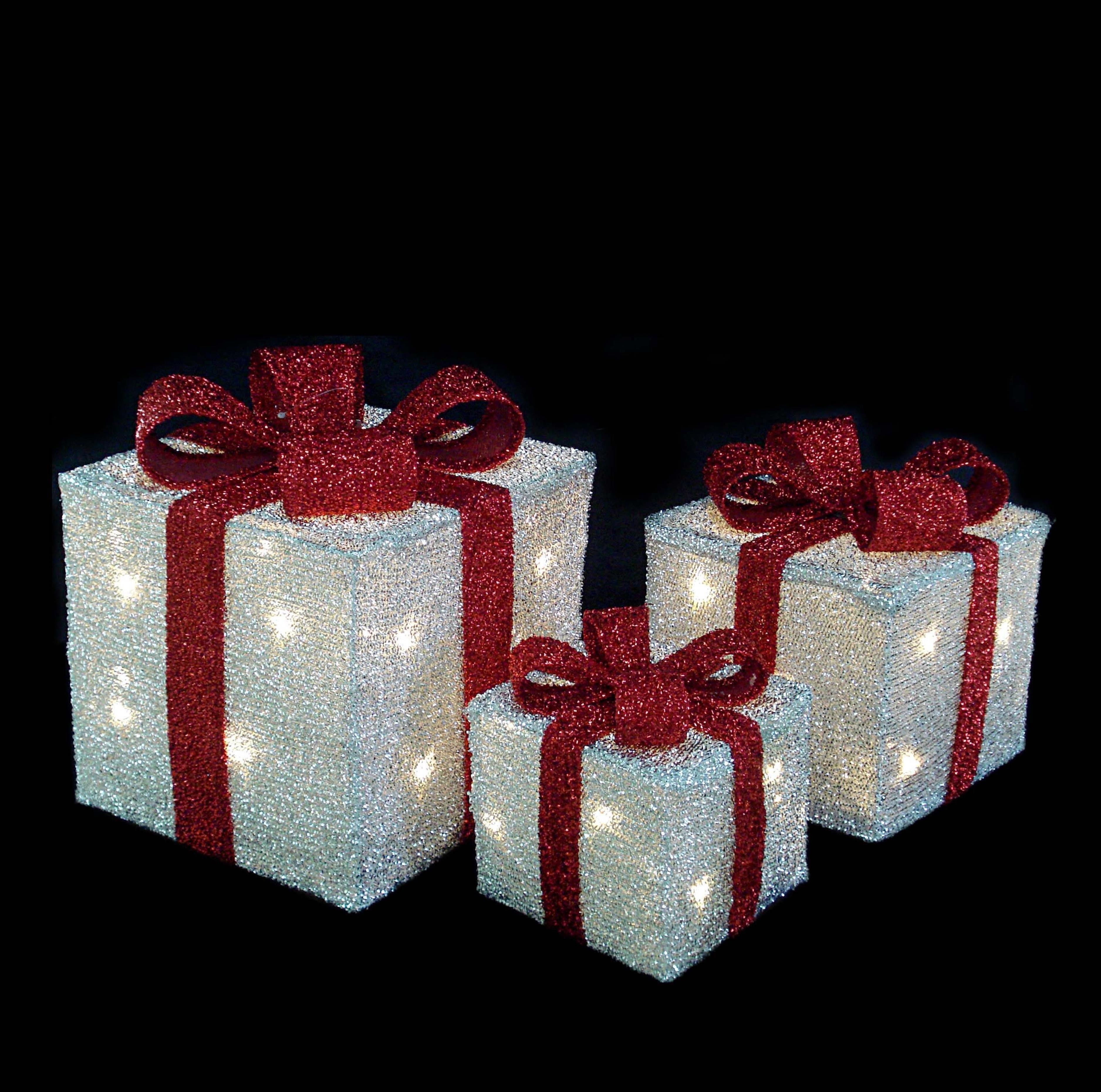 Акриловый светодиодный Подарок 20см 00599