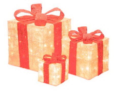 Акриловый светодиодный Подарок 20 см 00600