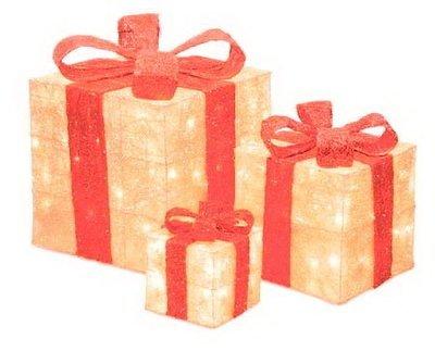 Акриловый светодиодный Подарок 20 см