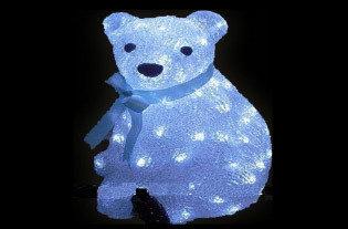 Акриловая светодиодная фигура Медведь 28см 00607