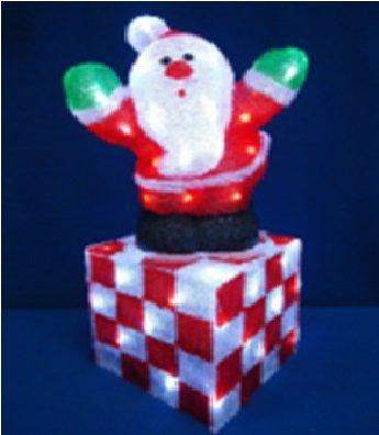 Акриловая Новогодняя светодиодная фигура Дед Мороз 53см 00608