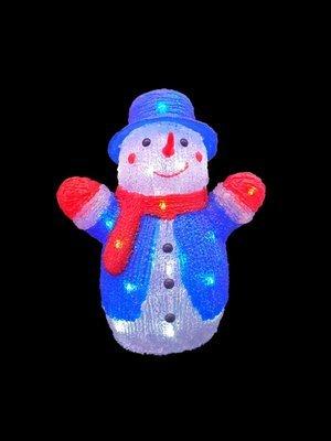 Светодиодная фигура Снеговик
