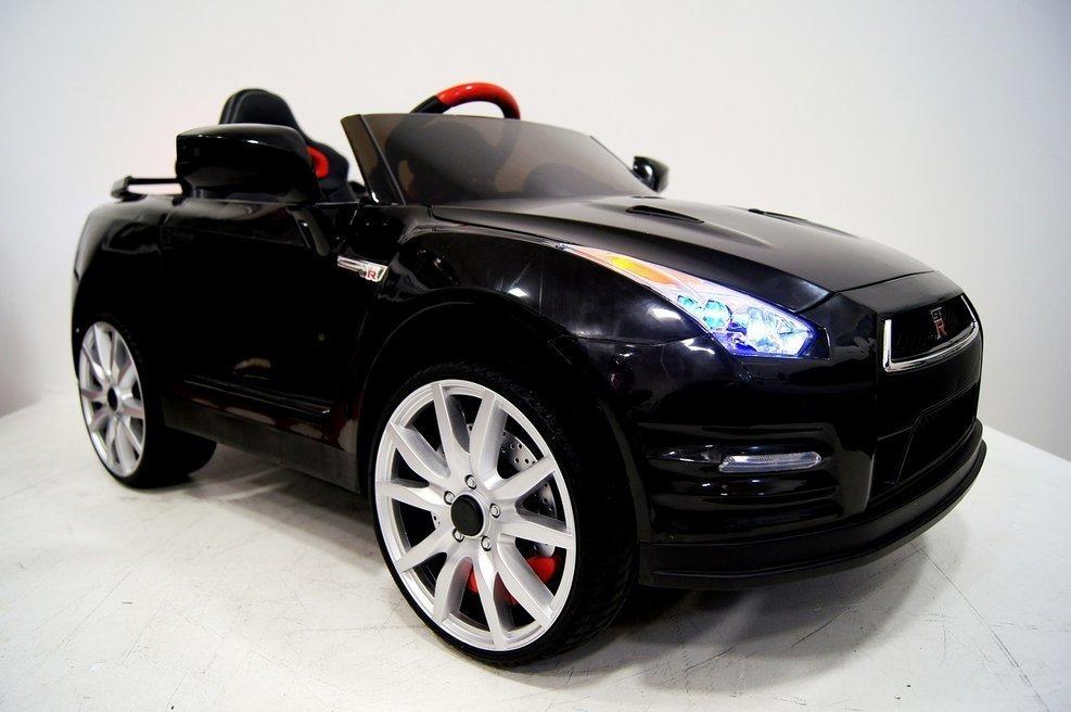 Детский электромобиль Nissan GTR X333XX (ЛИЦЕНЗИОННАЯ МОДЕЛЬ) черный/белый 00914